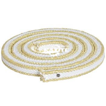 アラミドコーナーの白色PTFEパッキング